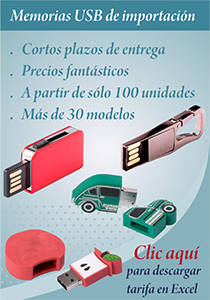 Memorias USB import como regalo publicitario