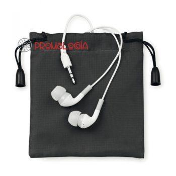 Auriculares con bolsa publicitarios