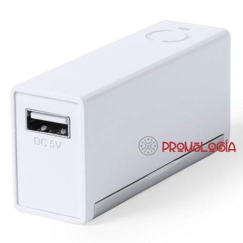 Cargador USB promocional.