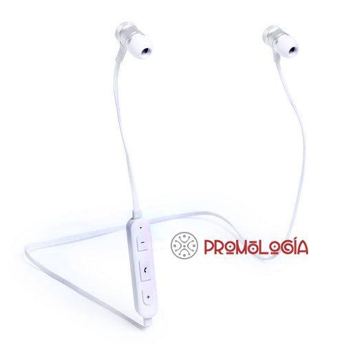 Auriculares bluetooth publicitarios.