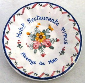 Platillo porcelana promocional